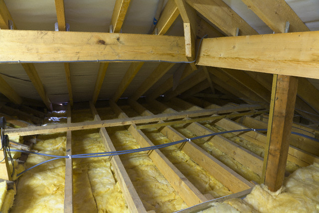 Утепление потолков в деревянном доМотокосилПумпон своим руками